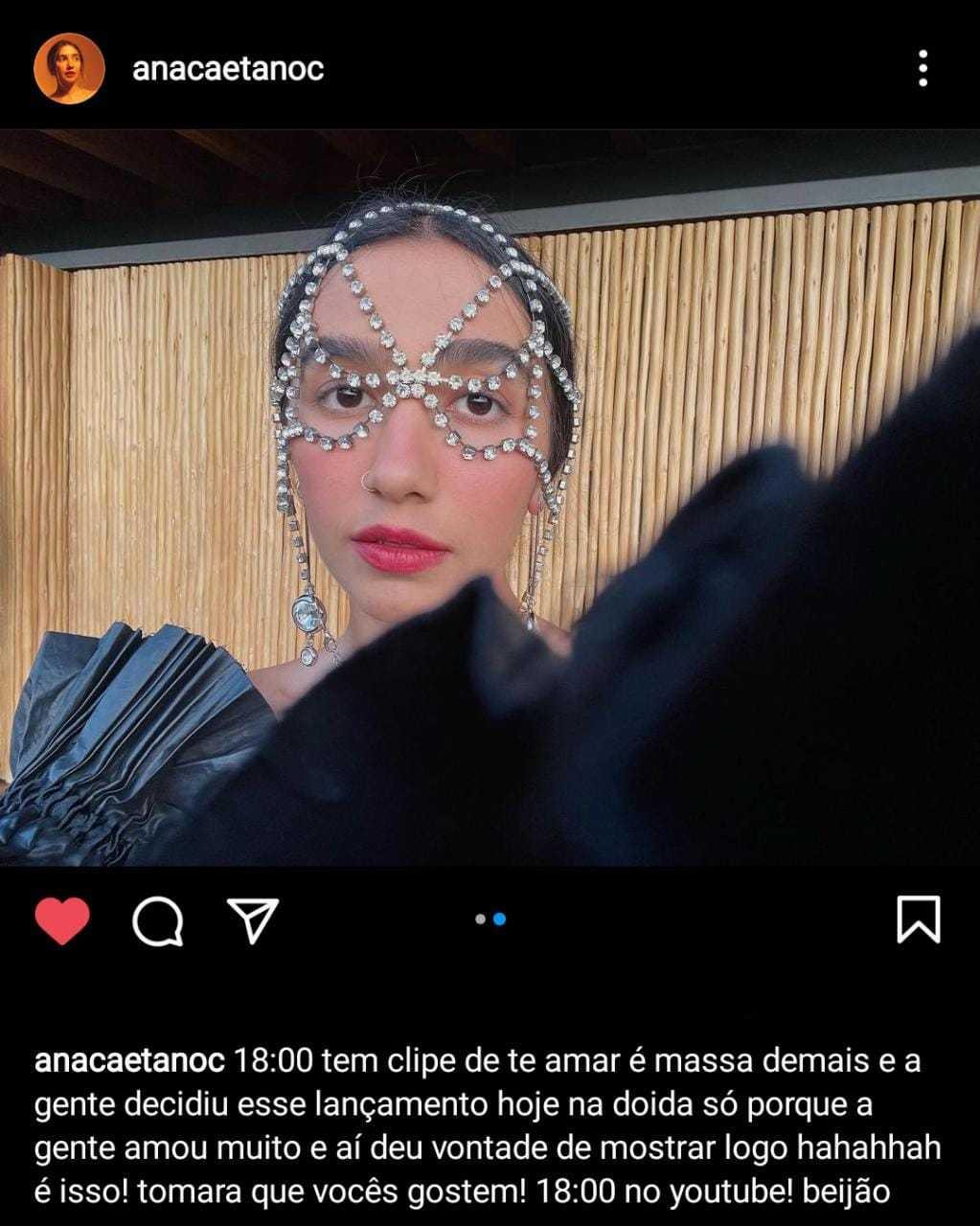 Ana Caetano no Instagram