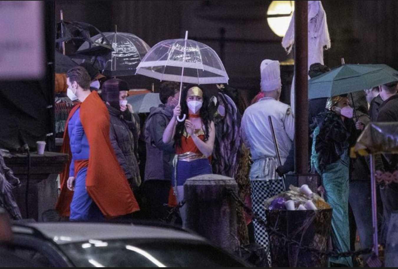 (Cena de bastidores de 'The Batman'. Reprodução: Miguel Lokia)