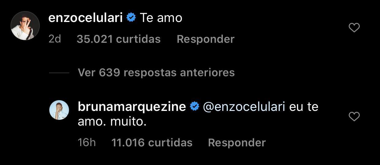 Bruna Marquezine responde declaração de Enzo Celulari: