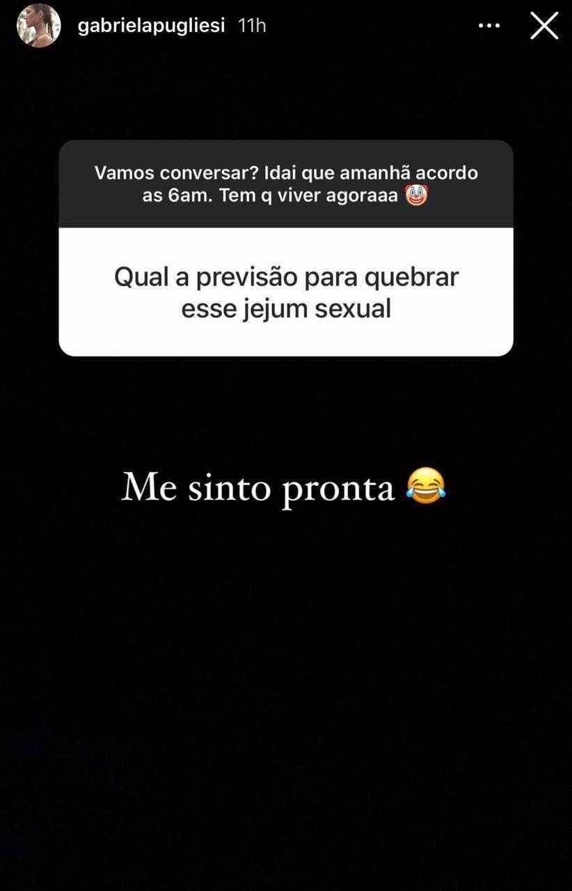 """Após separação, Gabriela Pugliesi fala sobre quebrar jejum sexual: """"Estou pronta"""" (Foto: Reprodução/Instagram)"""