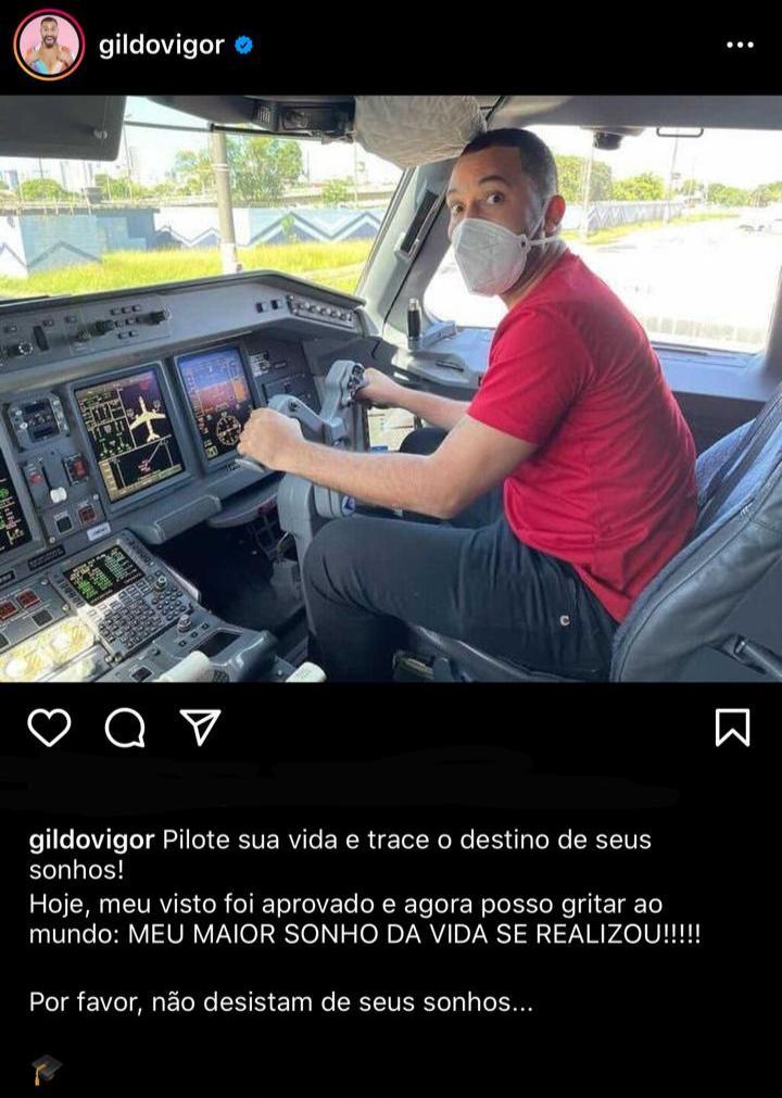 Gil do Vigor comemora visto aprovado para entrar nos EUA: 'Vai ter cachorrada na Califórnia, sim' (Foto: Reprodução/Instagram)