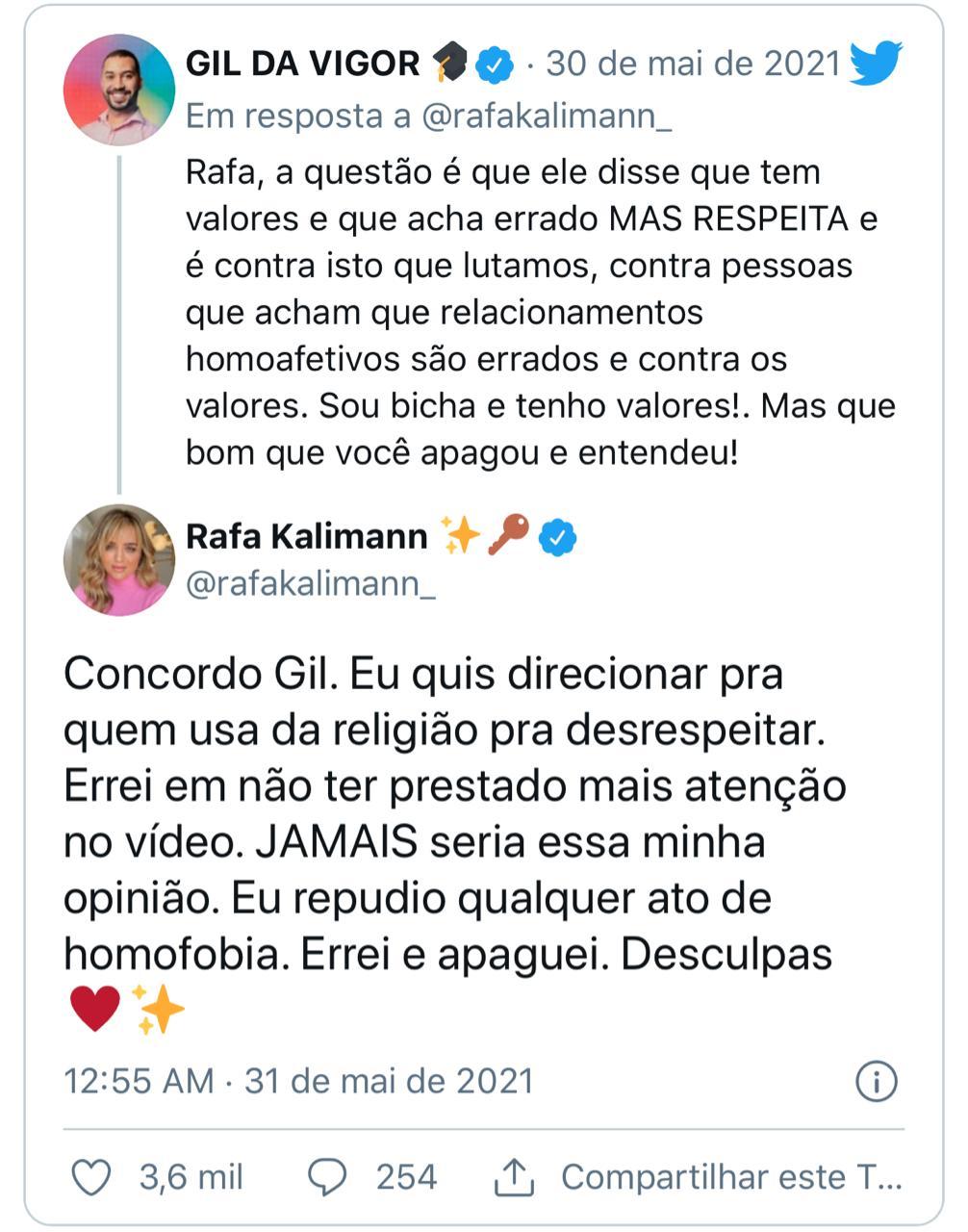 Rafa Kalimann e Caio Castro são acusados de homofobia por apoio a pastor (Foto: Reprodução/Instagram)