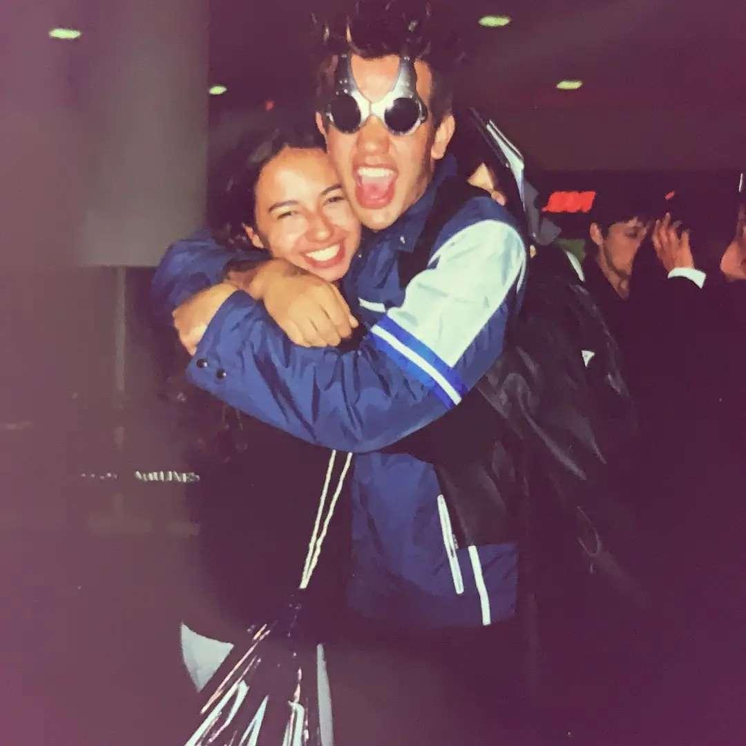 Sander Mecca e sua namorada Adriana em 2000 (Foto: Reprodução/Instagram)