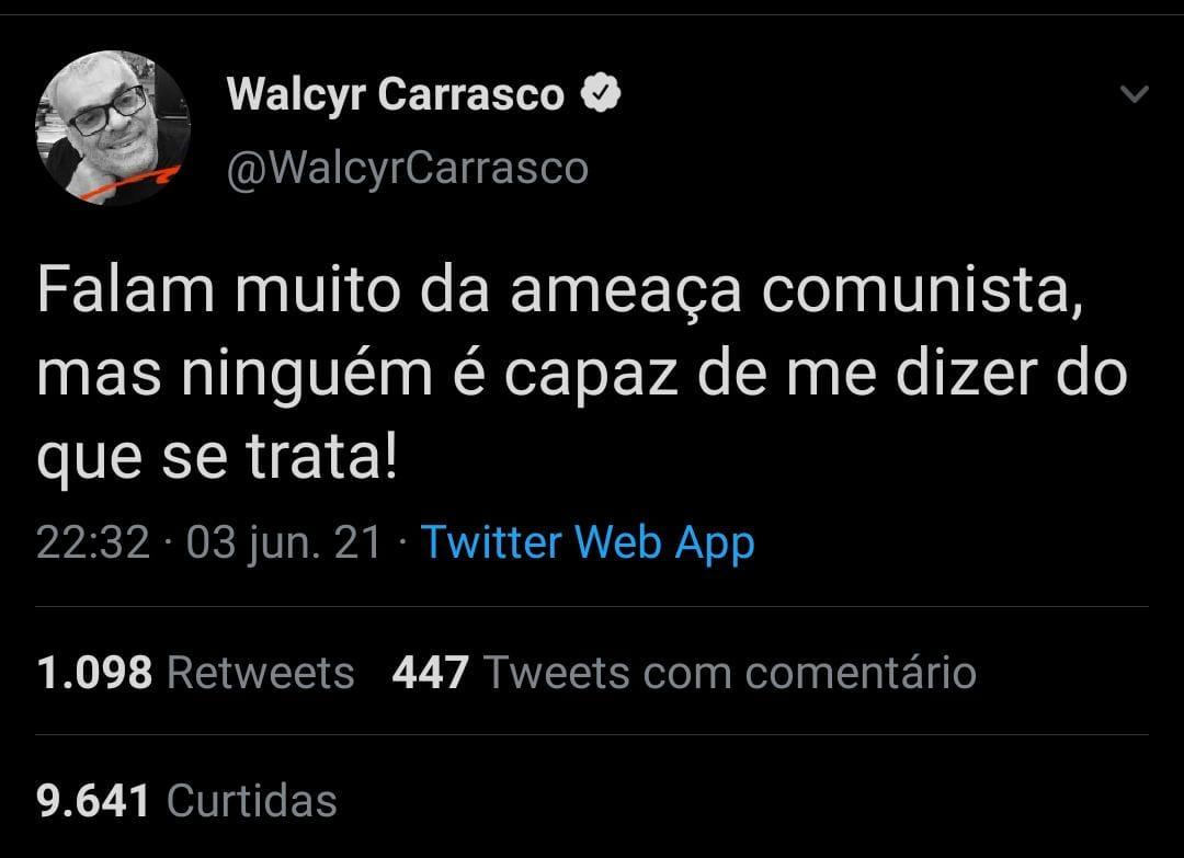 Tweet de Walcyr Carrasco