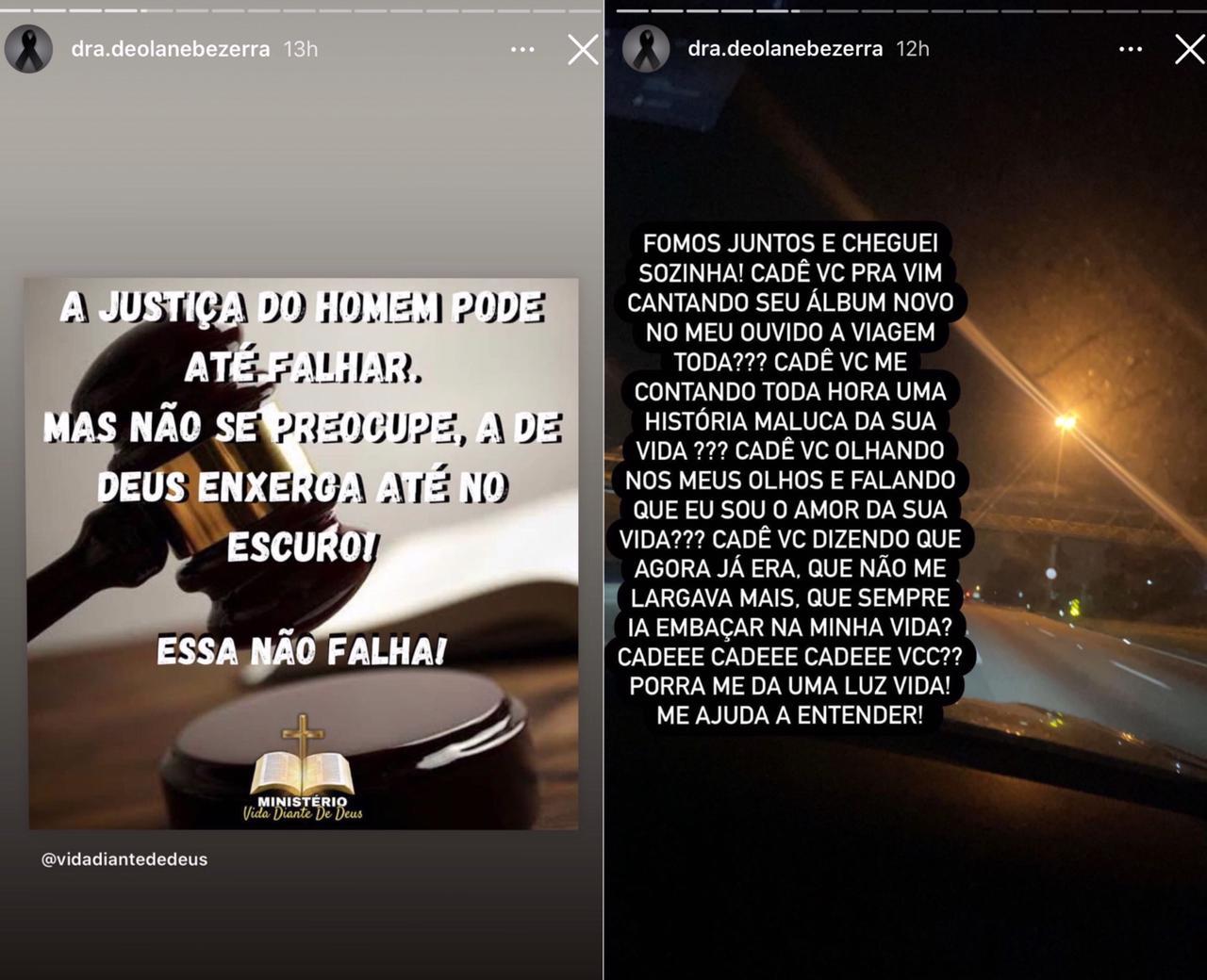 Viúva de MC Kevin desabafa contra 'falsos amigos' no velório do cantor (Foto: Reprodução/Instagram)