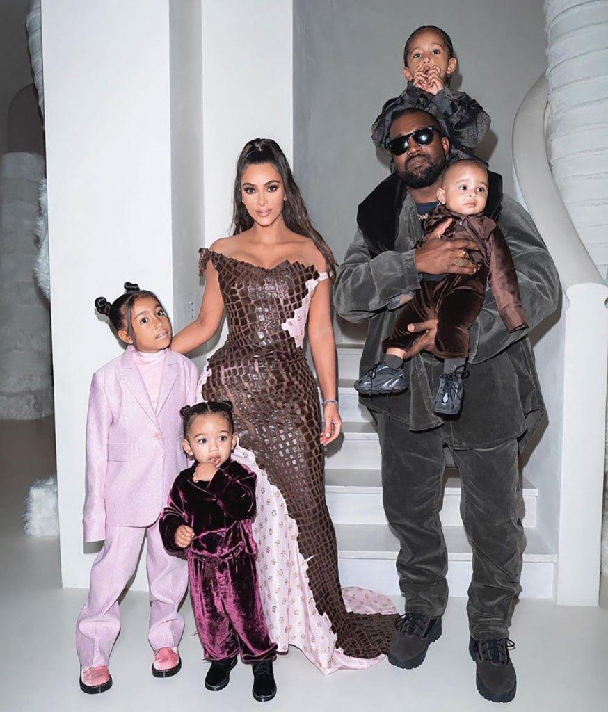 kim kanye e filhos