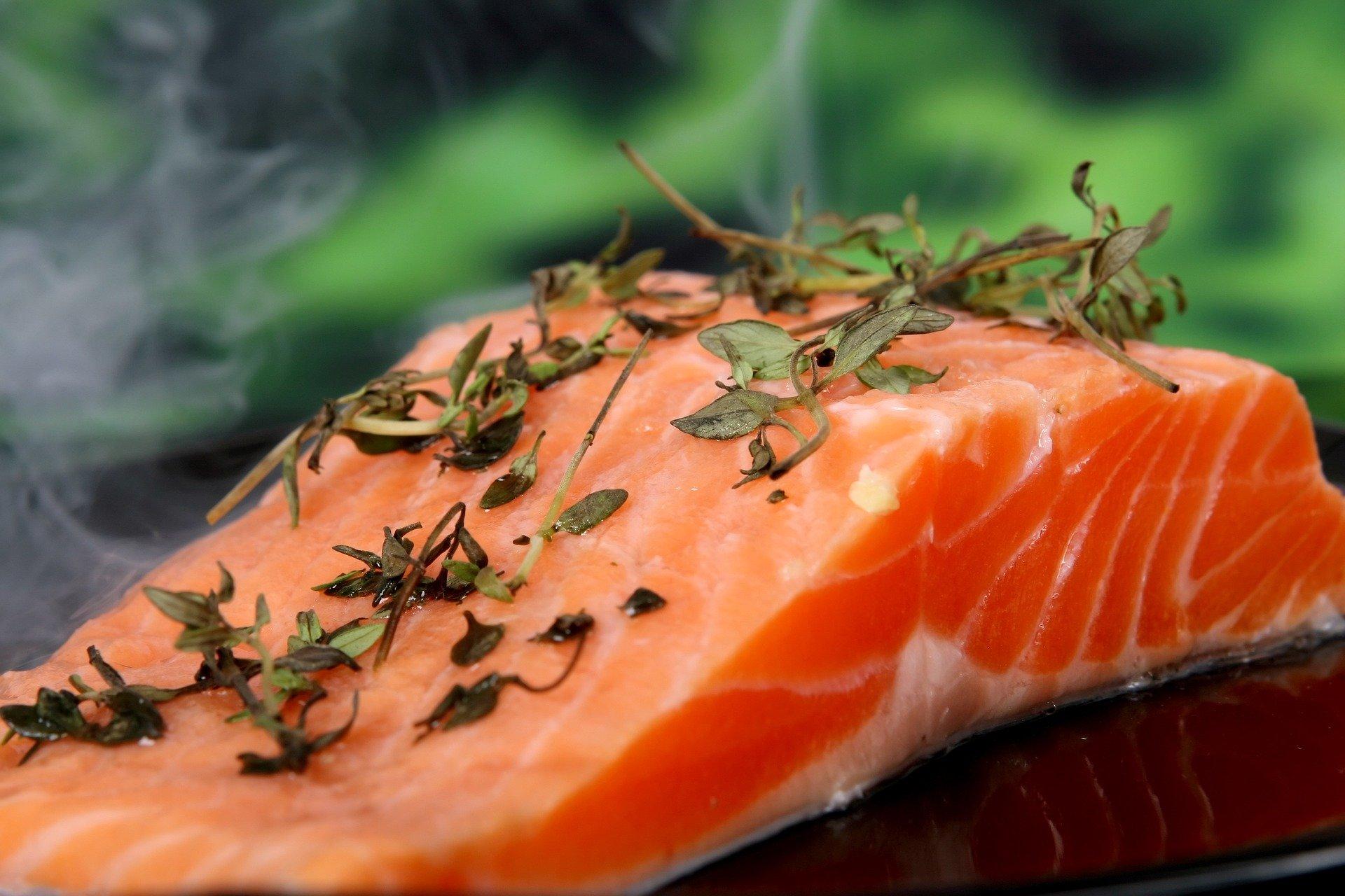 salmão, alimentação, vitamina D