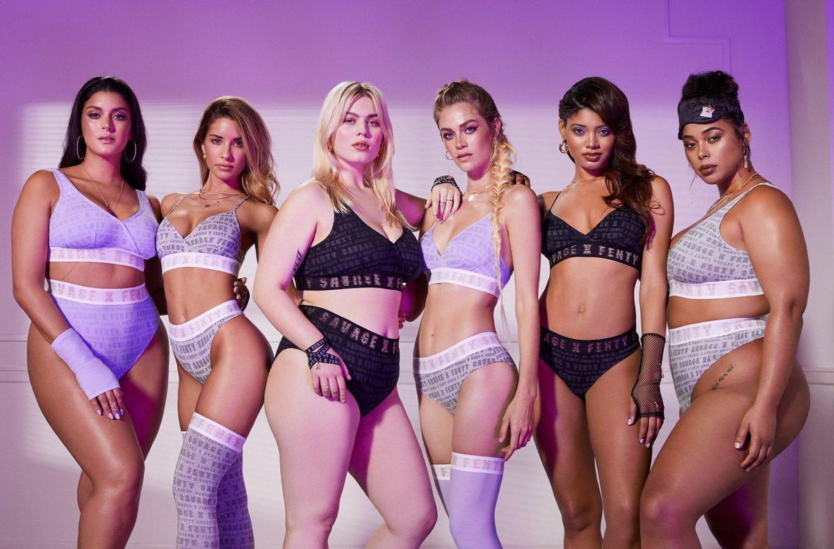 Modelos com corpos diversificados posam para campanha Savage x Fenty
