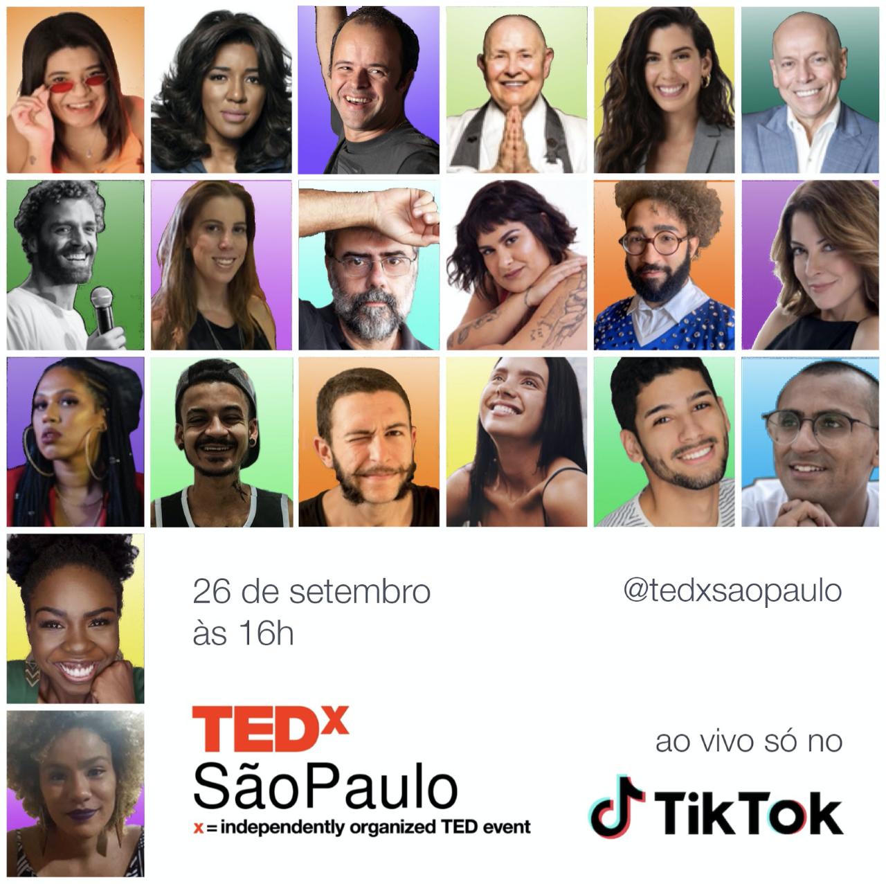 TEDXSãoPaulo garante conversa com experiências inspiradoras. (Foto: Reprodução/Assessoria)