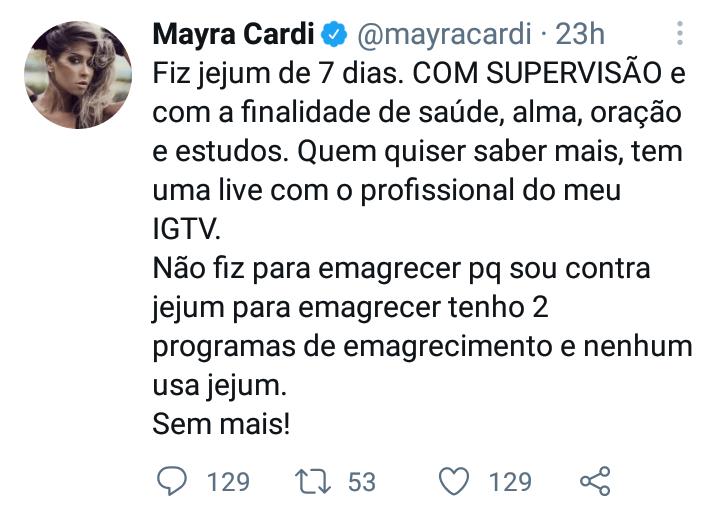 tweet mayra
