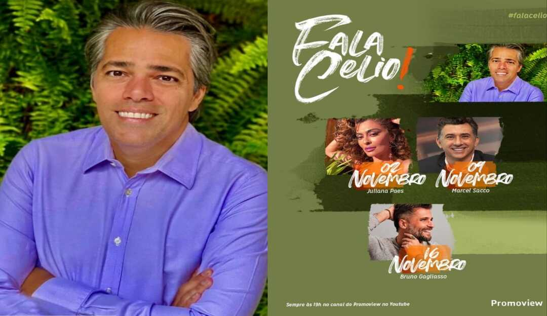 Juliana Paes e Bruno Gagliasso são as atrações do programa Fala Celio! em novembro