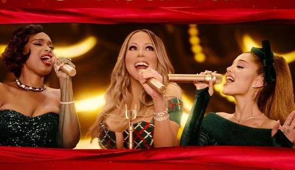 Mariah Carey lança clipe natalino com Ariana Grande e Jennifer Hudson
