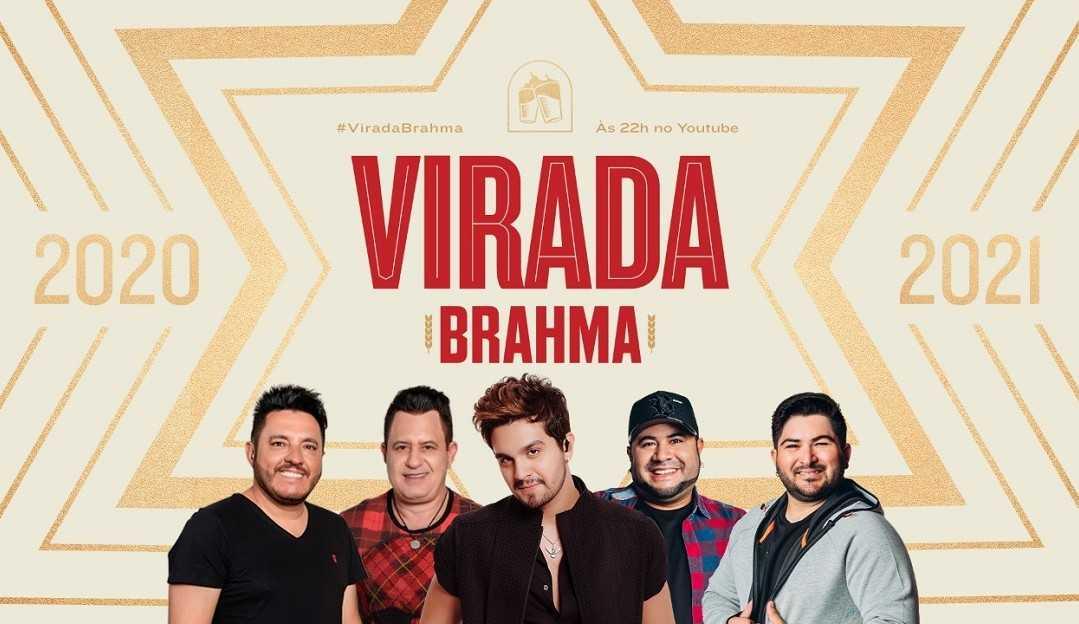 Luan Santana, Bruno e Marrone e Barões da Pisadinha te esperam na Virada Brahma