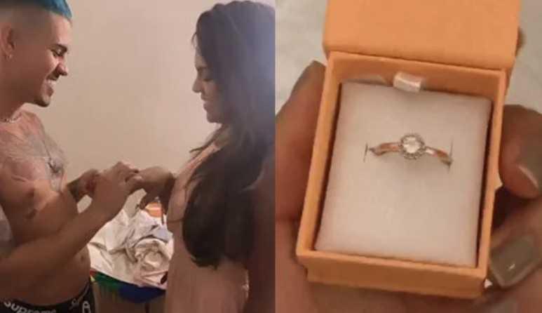 """Tays Reis e Biel """"oficializam"""" namoro após fãs darem anel de diamante para a cantora"""