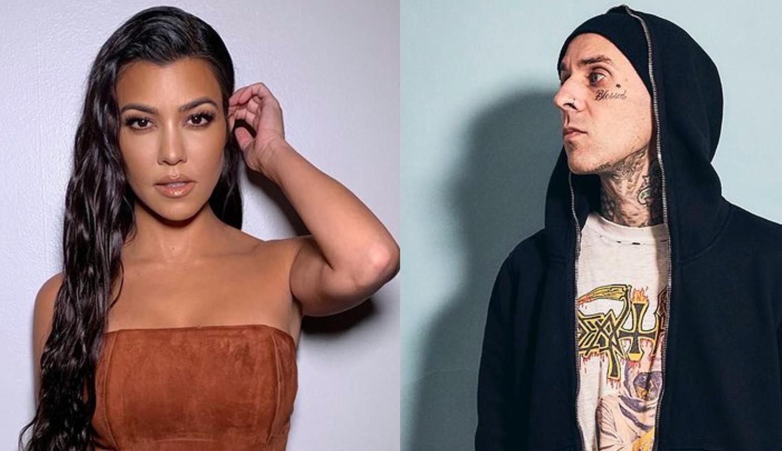 Kourtney Kardashian e Travis Barker estão namorando, diz site
