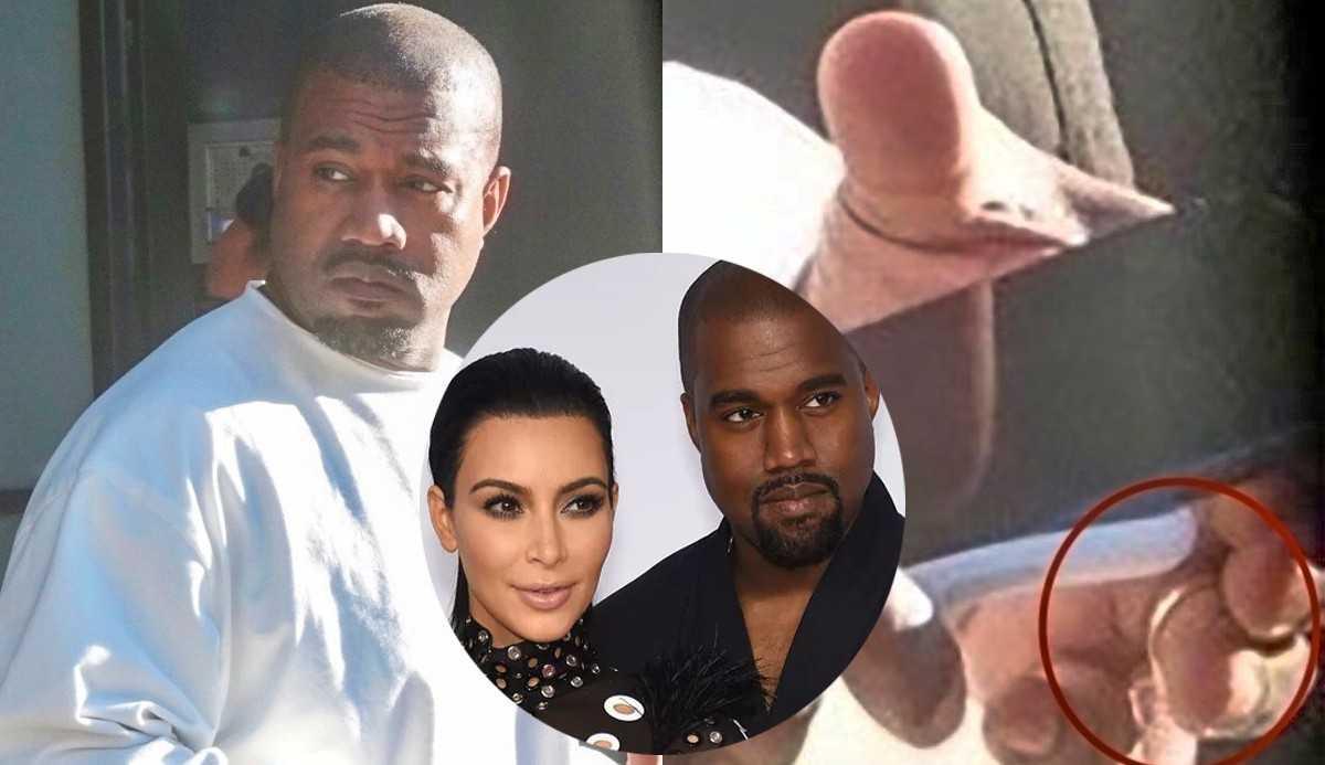 Kanye West é fotografado de aliança em meio a divórcio com Kim Kardashian