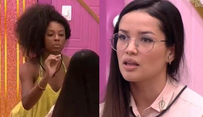 """Lumena e Juliette discutem sobre a relação delas no BBB 21: """"Não vim ser professora"""""""