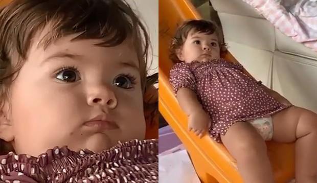 Rafa Vitti posta vídeo de filha, Clara Maria, em 'crise existencial' e brinca: 'Banho chegando'