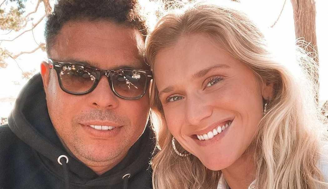Noiva de Ronaldo Fenômeno 'engana' fãs com suposta gravidez