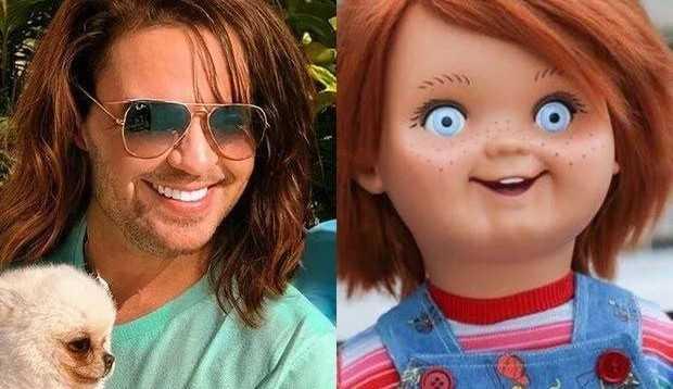 Eduardo Costa muda visual, vira meme e é comparado até com Chucky