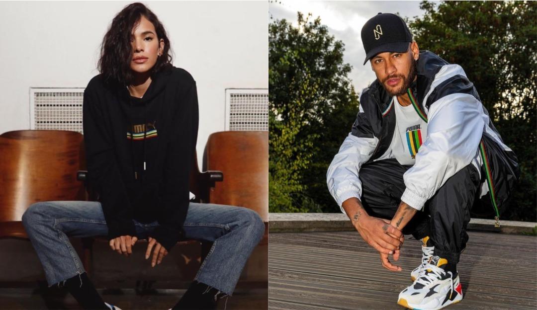 Neymar agora representa a mesma marca que Bruna Marquezine