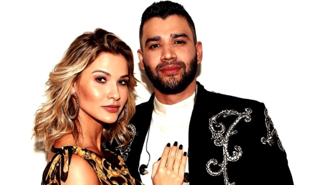 Gusttavo Lima e Andressa Suita passam o domingo juntos em iate
