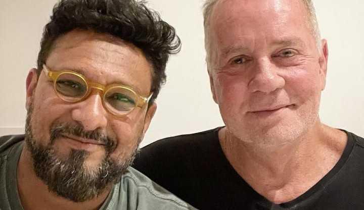 Marido de Luiz Fernando Guimarães emociona internautas ao falar da adoção de seus filhos