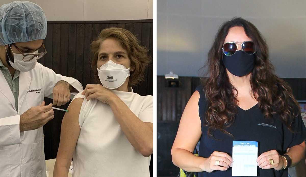 Drica Moraes e Ana Carolina são vacinadas contra a Covid-19