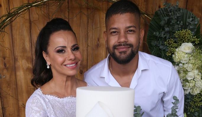 Viviane Araújo se casa com Guilherme Militão no Rio de Janeiro