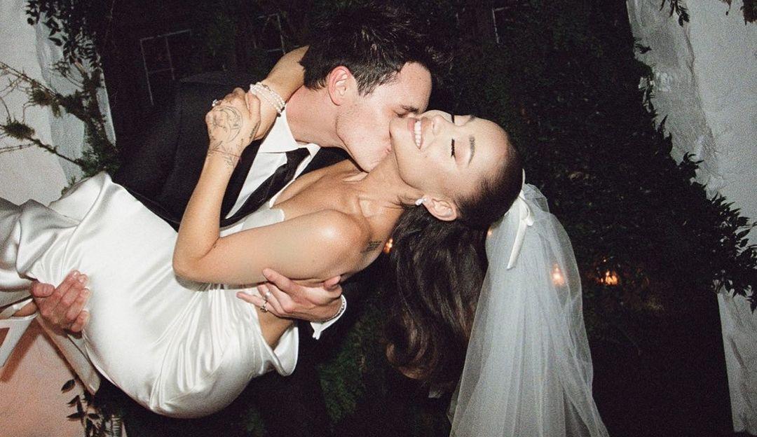 Ariana Grande compartilha as fotos do seu casamento no Instagram