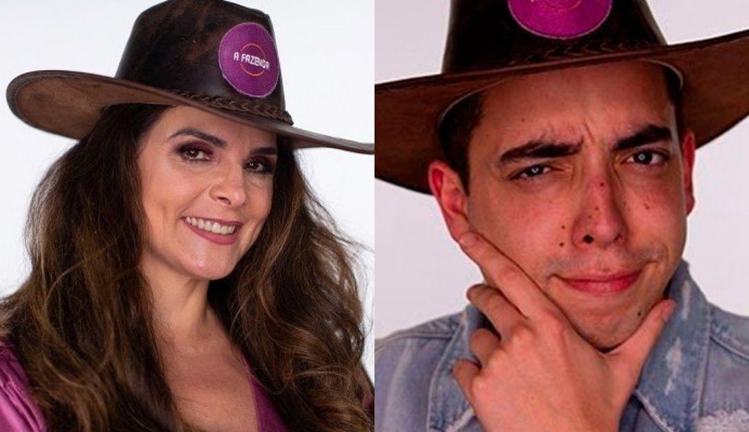 A Fazenda: Luiza Ambiel e Lucas Maciel batem boca