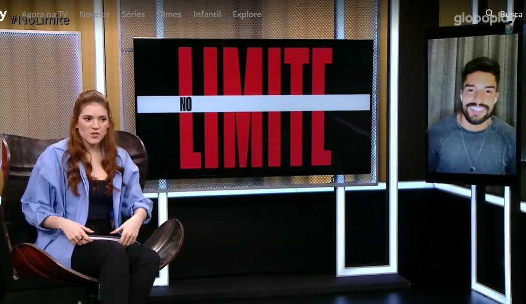 Questionado se rolou beijo com Carol Peixinho após o 'No Limite', Bil desconversa: 'Próxima pergunta'