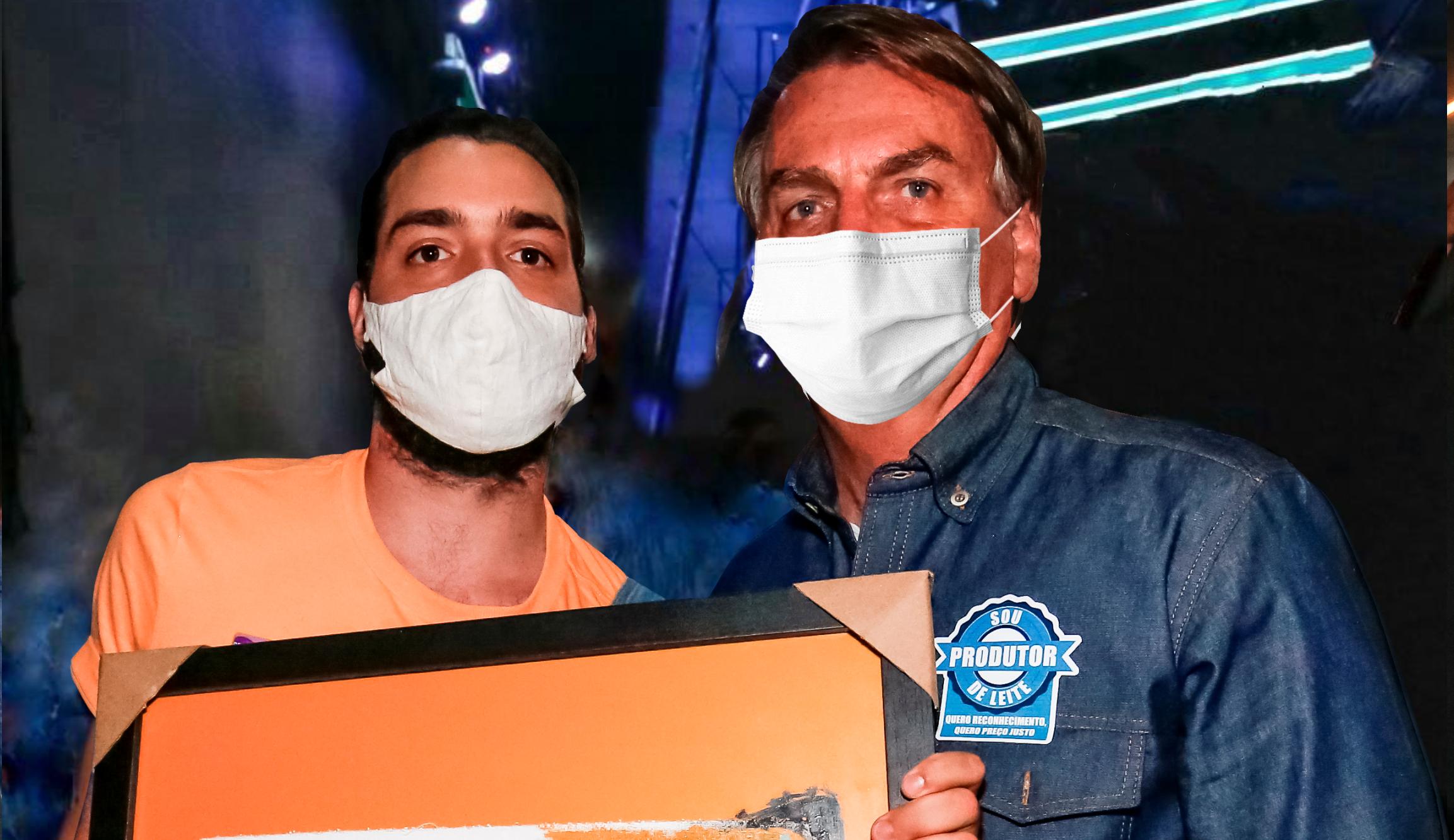 """Artista plástico Samuel Caixeta presenteia Presidente com sua obra de arte """"Torre Forte"""""""