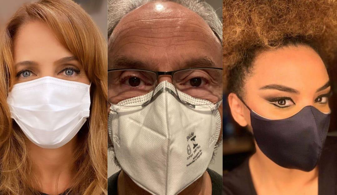Famosos defendem o uso de máscaras e contrariam presidente Jair Bolsonaro