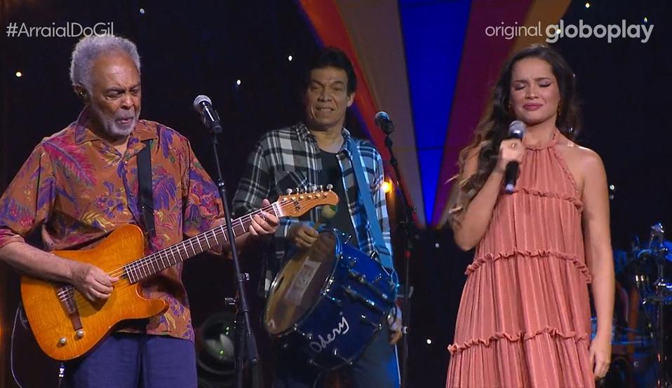 Juliette se emociona durante Live com Gilberto Gil: 'É uma energia tão linda'