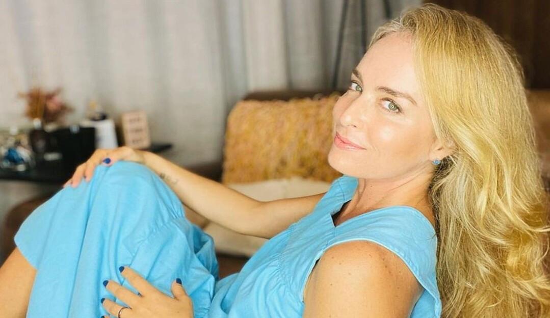 A apresentadora Angélica foi vacinada no Rio de Janeiro contra a Covid-19