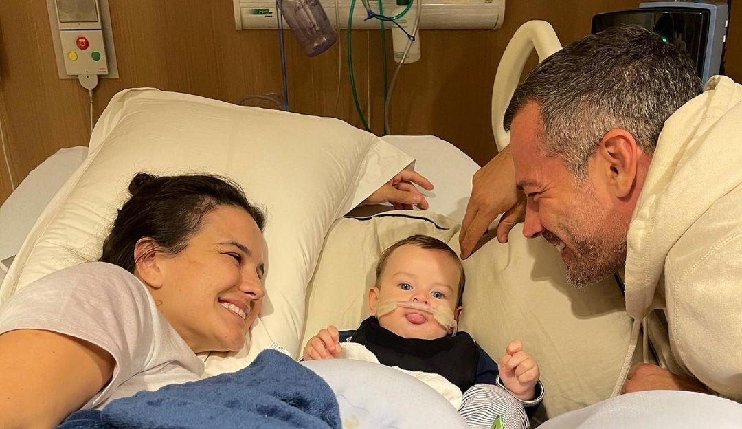 Kyra Gracie e Malvino Salvador comemoram melhora e alta do filho Rayan