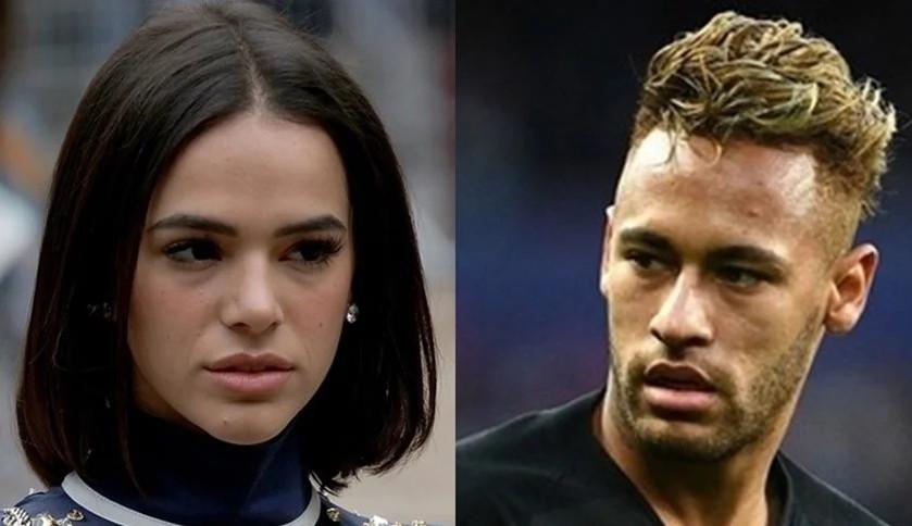 Bruna Marquezine e Neymar se encontram após jogo do Brasil