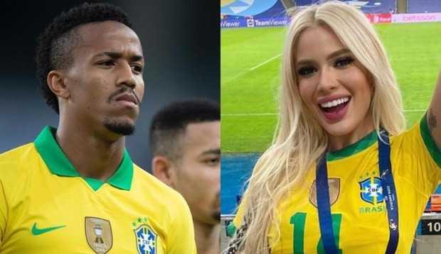 Zagueiro da seleção brasileira, Éder Militão, tem romance com influencer