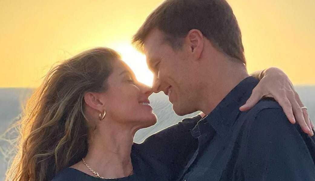 Tom Brad parabeniza Gisele Bündchen com post romântico