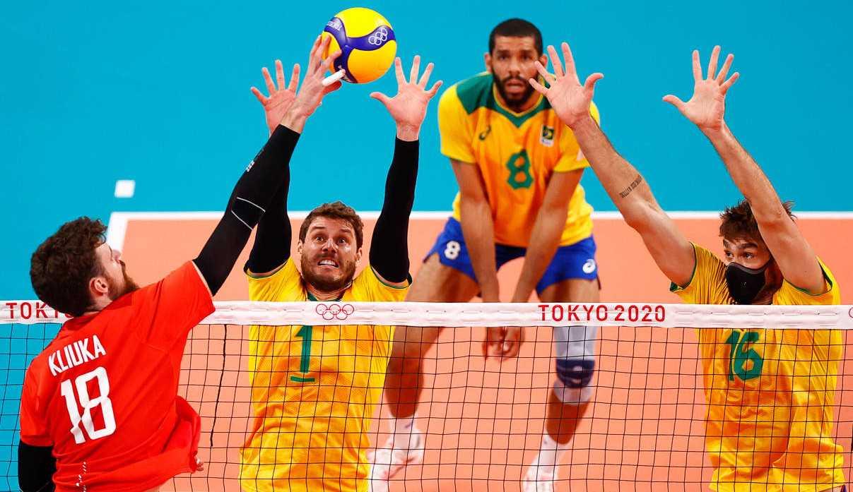 Vôlei masculino perde a primeira partida para a Rússia em Tóquio