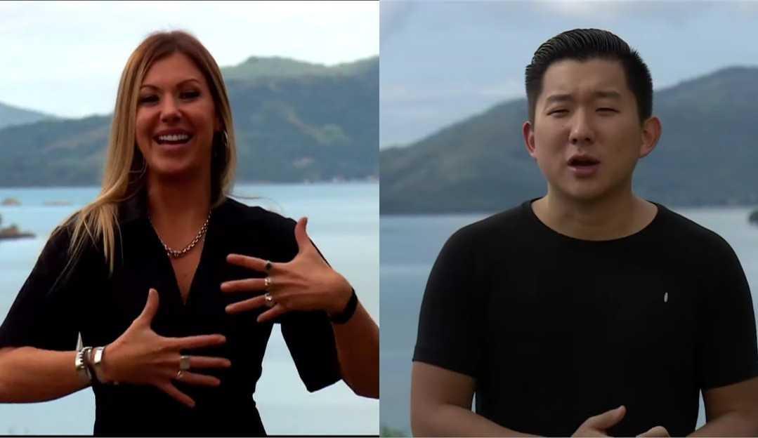 Pyong Lee e Antonela se aproximam em 'Ilha Record'