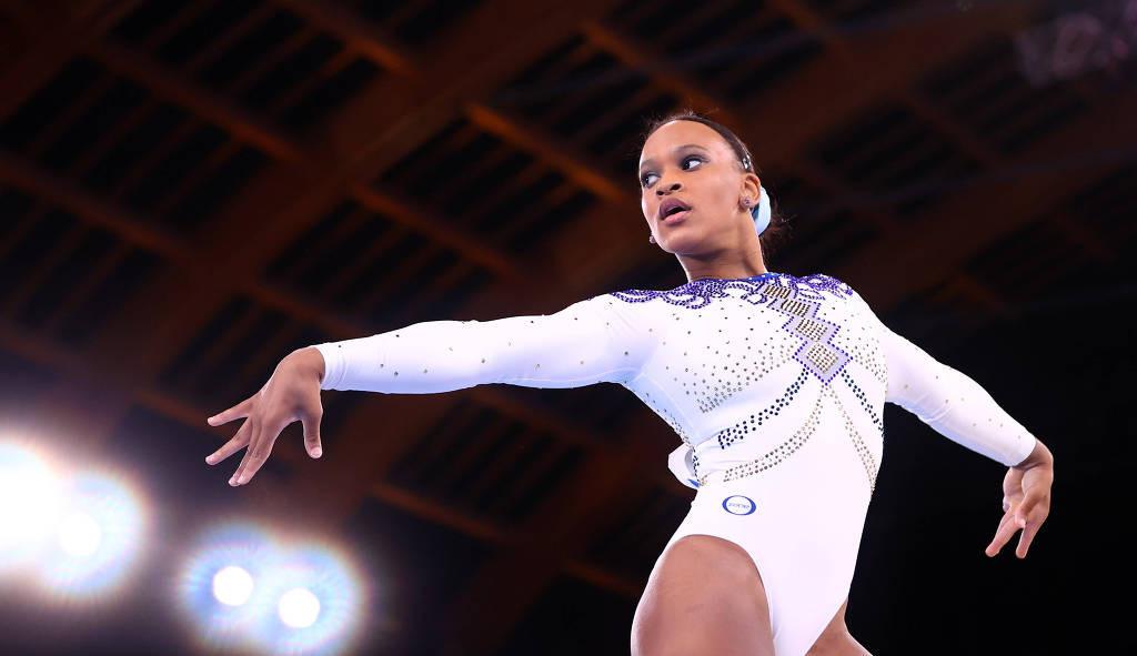 Rebeca Andrade ganha favoritismo para a final na ginástica