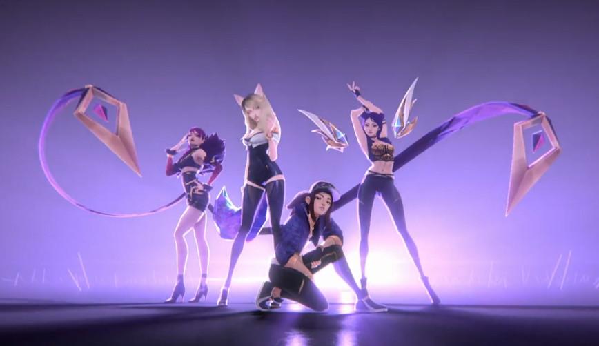 O grupo virtual K/DA ganha certificado de ouro nos EUA com a canção 'POP/STARS'
