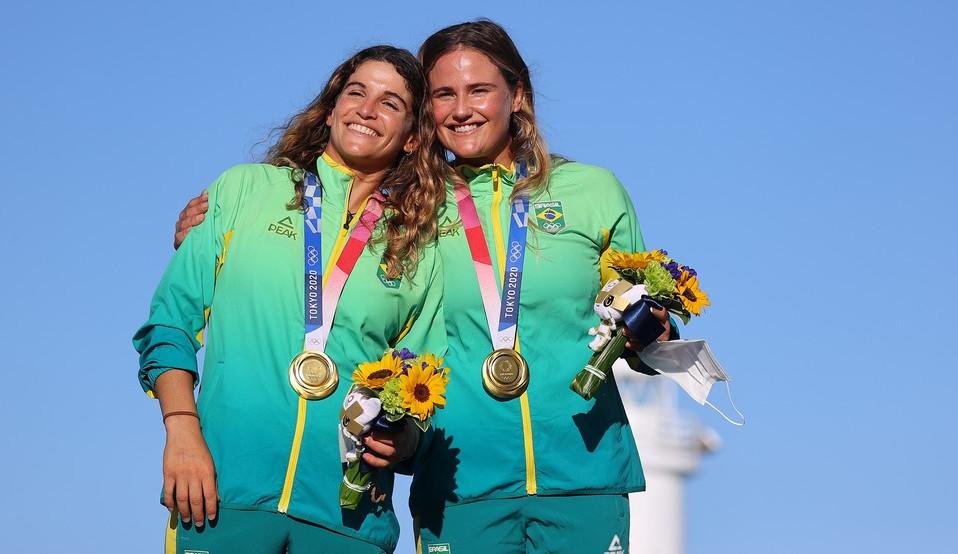 Ouro que reflete a tradição na vela e o DNA vencedor brasileiro nos barcos