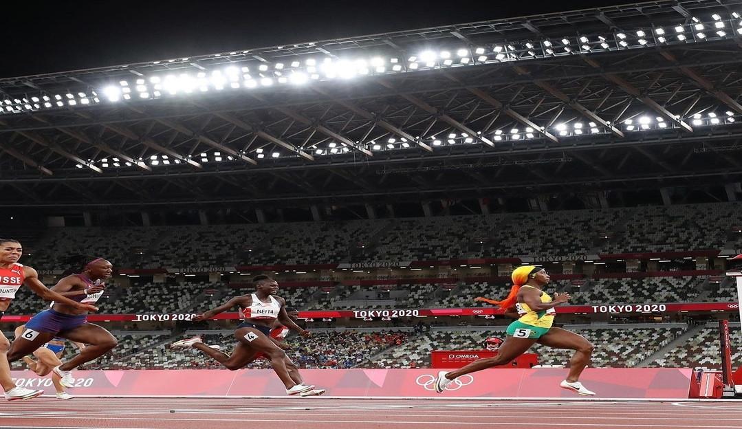 Cabelos coloridos e unhas decoradas nas olimpíadas