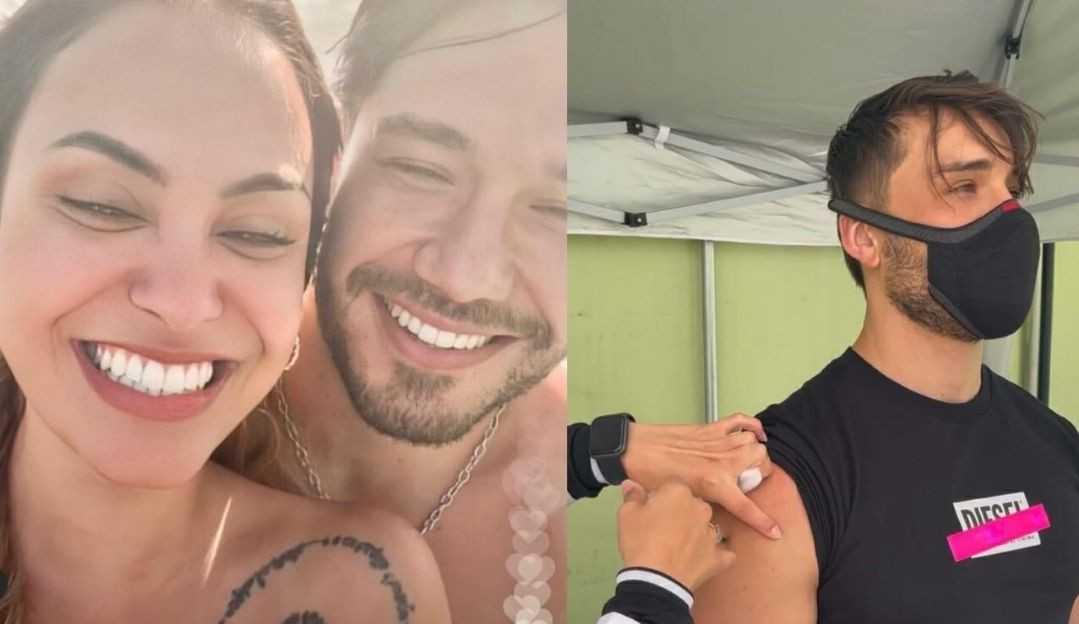 Sarah Andrade e Lucas Viana são vacinados após série de críticas