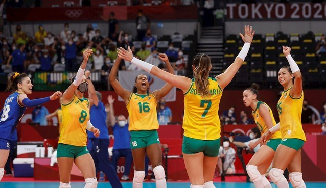 Brasil vence a Rússia e avança para semifinal das Olimpíadas de Tóquio