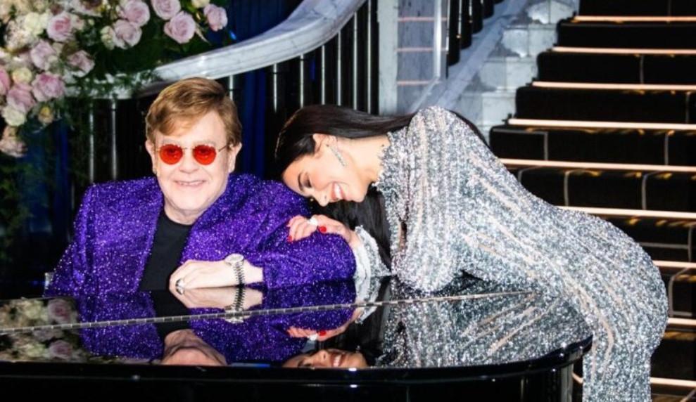 Elton John e Dua Lipa movimentam a sexta-feira 13 com parceria inusitada