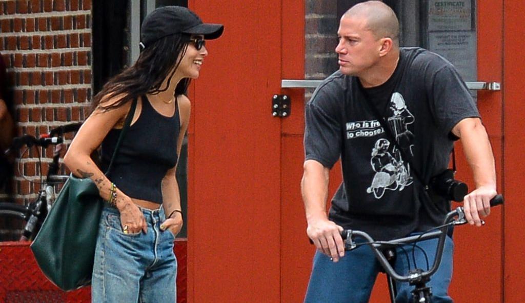 Channing Tatum e Zoë Kravitz são vistos em passeio de bicicleta em NY e reacendem rumores de um relacionamento